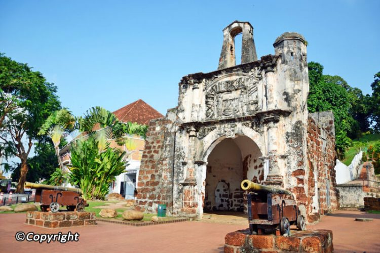 A Famosa Fort in Malacca, Malaysia