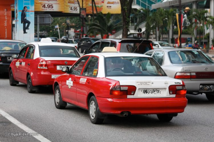 Taxis in Malaysia don't run the meter